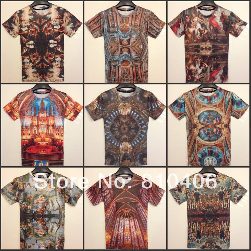 Free Shipping 2014 Men Fashion 3D Tops & Tees Funny Beaty Short Sleeve T Shirt Sport Clothing 3D Tees Top Short Sleeve Series-inT-Shirts from Apparel & Accessories on Aliexpress.com