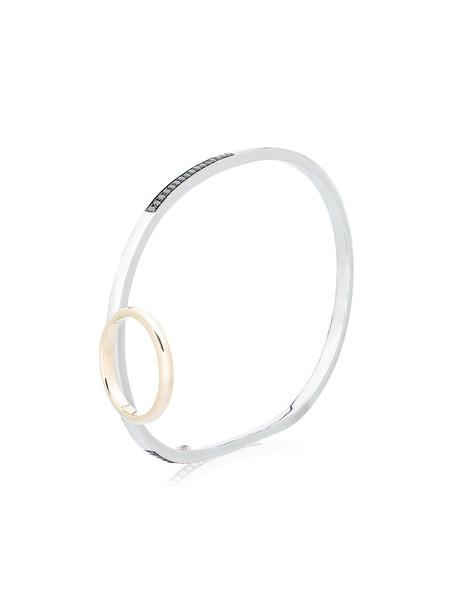 Gaelle Khouri diamond ring women ring gold silver black grey metallic jewels