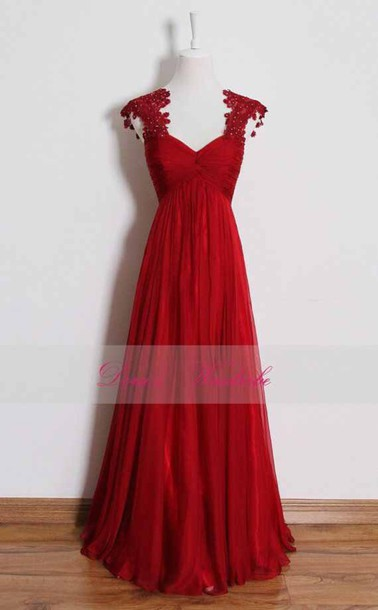 dress red dress prom dress cute