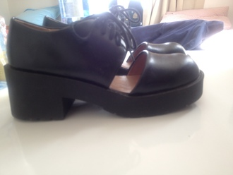 shoes jeffrey campbell black lace ups