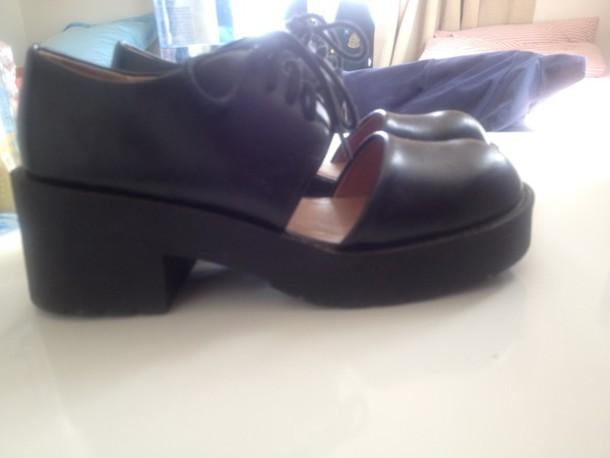 shoes jeffrey campbell black lace-up shoes