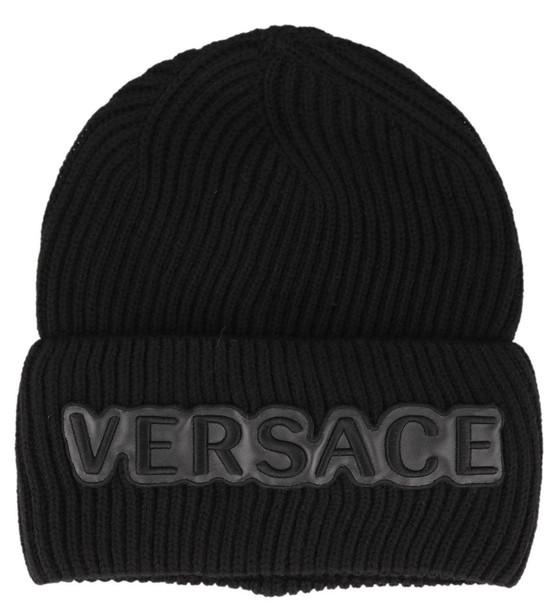 Versace Logo Hat in black