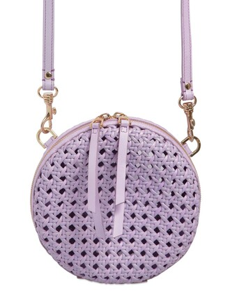 bag shoulder bag leather lilac