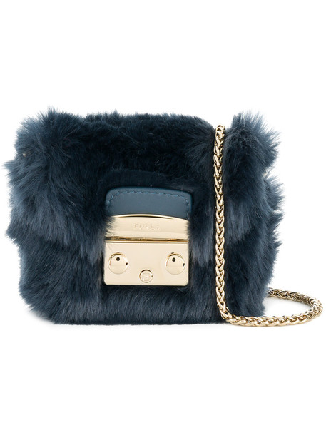 Furla mini women bag mini bag leather blue