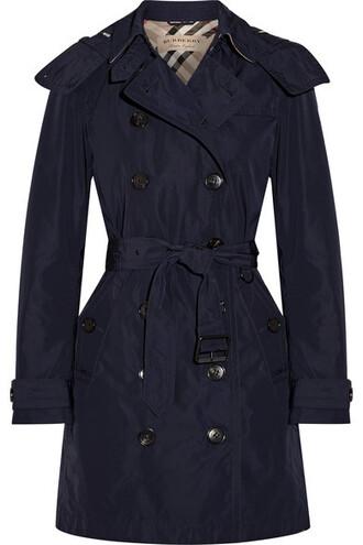 coat trench coat shell blue