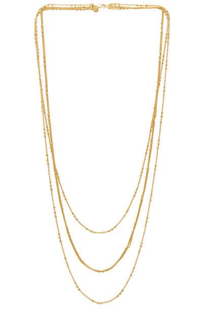 gorjana Margo Chain Layered Necklace in gold / metallic