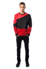 Red hybrid sweatshirt – vmulondon