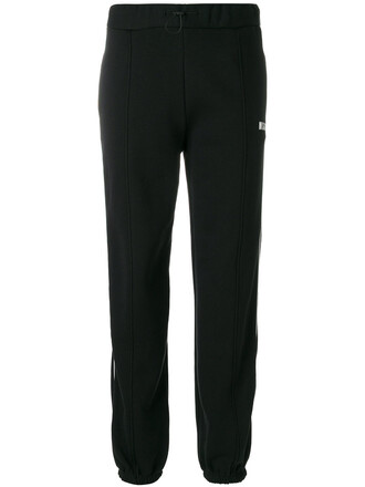 sweatpants women classic cotton black pants