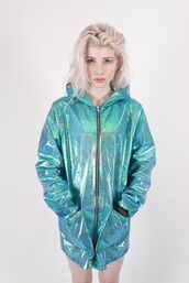 jacket,holographic,teal jacket,blue,turquoise,holographic turquoise,tumblr,holographic jacket,iridescent,green