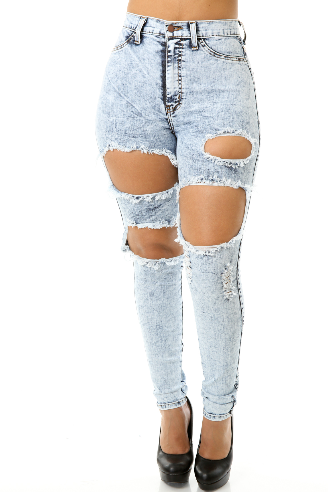 Sep 18,  · Look for high-waisted jeans that are boyfriend cut or bootcut denim to balance out your proportions. [2] Avoid high-waisted jeans with no give in the waist, as this will squeeze your stomach and you will feel uncomfortable wearing them%(2).