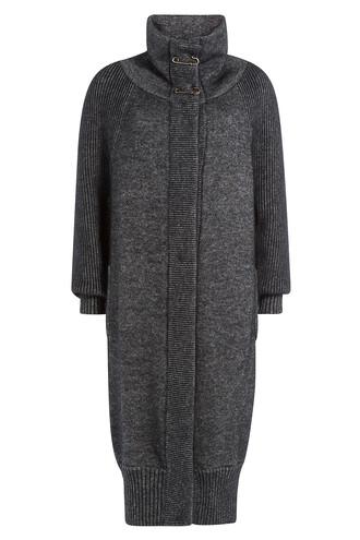coat long mohair black