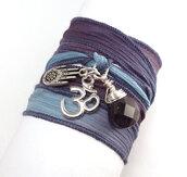jewelry,wrap bracelet,silk ribbon bracelet,charm bracelet,bracelets