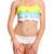Yellow Halter Ruffle Layered Bikini Swimsuit
