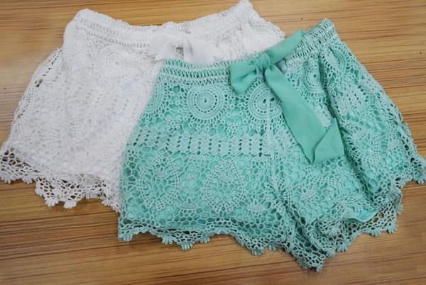 shorts lace lace shorts