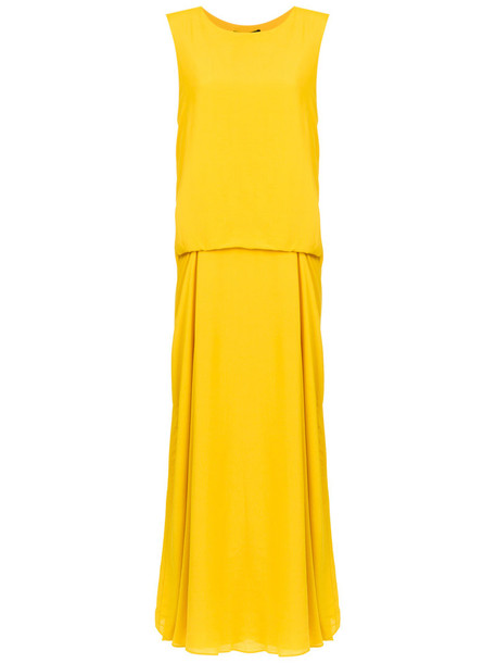 Uma Raquel Davidowicz dress maxi dress maxi women yellow orange