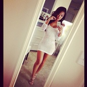dress,white,lace like,cute,tight,short,lace,bodycon,white dress,summer dress