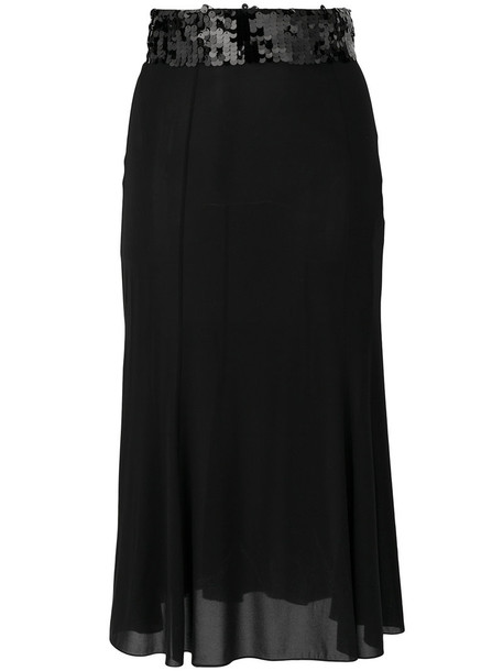 skirt women spandex black silk