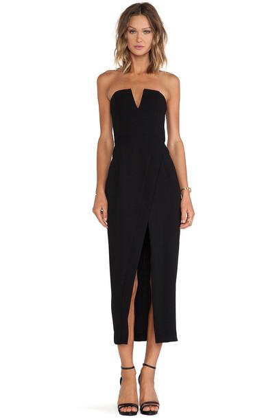 dress maxi dress cross maxi minimalist black