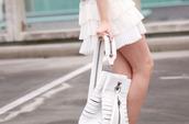 skirt,layered white skirt,white skirt