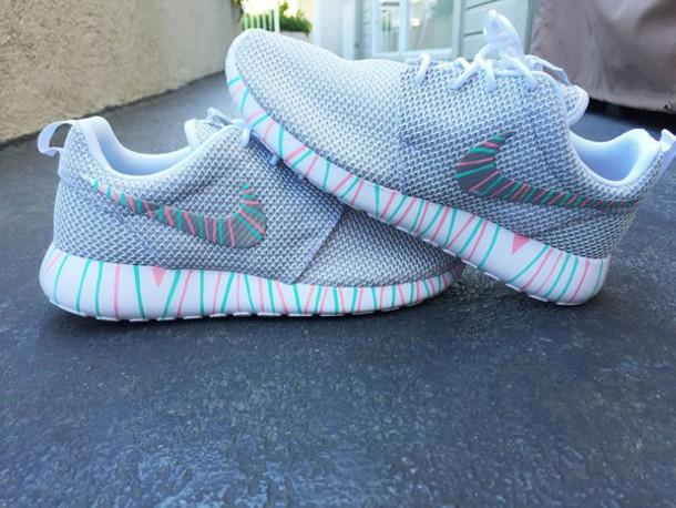 788b4b6da9d0 shoes nike nike shoes nike running shoes nike roshe run roshe runs roshes  rainbow striped shoes