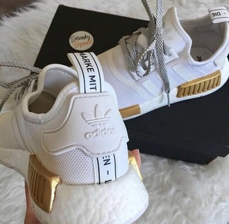 shoes white gold adidas