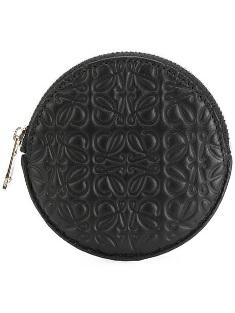 LOEWE women purse leather black bag