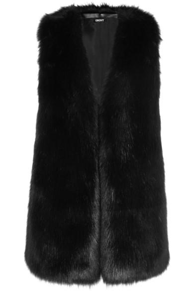 DKNY | Faux fur vest | NET-A-PORTER.COM