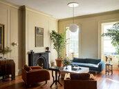 home accessory,plants,blue sofa,home decor,living room,sofa,table