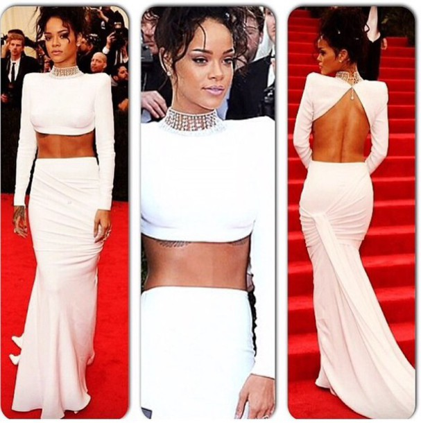 dress stella mccartney met gala 2014 two-piece