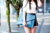 bag,blue,clutch