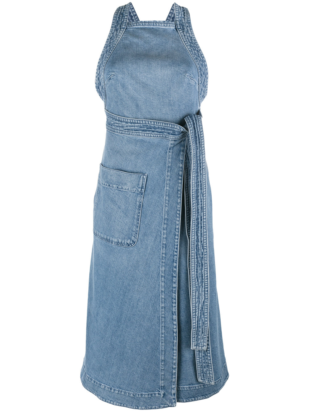 Stella McCartney Denim Wrap Dress - Farfetch