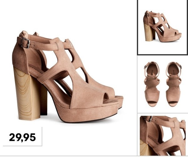 shoes summer summer shoes fashion h&m nude nude high heels sandals