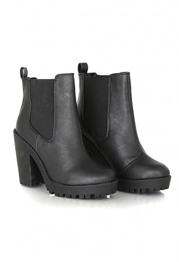 Divya Leather Platform Chelsea Boots - Footwear - Missguided