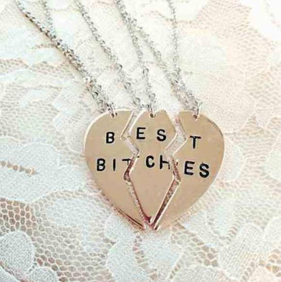 jewels friendship necklace friends best bitches