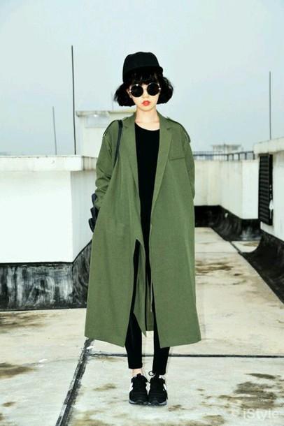 cardigan khaki jacket