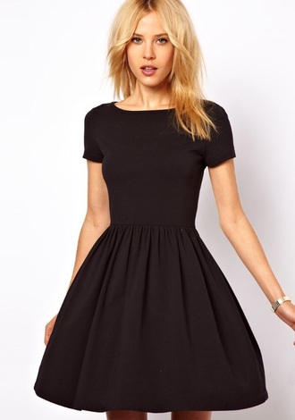 dress black short black dress