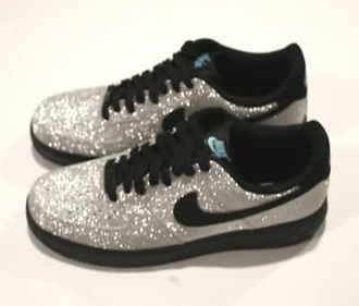 shoes nike bling nike air force 1 sneakers diamonds