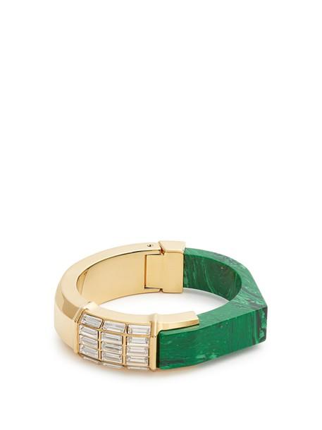 CERCLE AMEDEE cuff green jewels