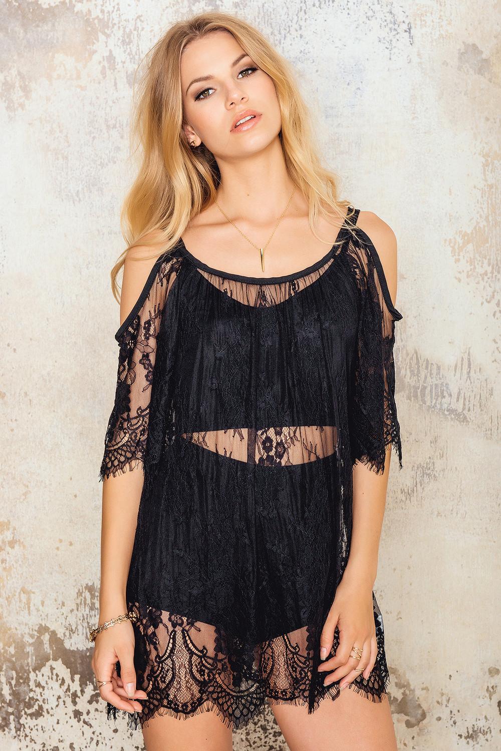 Hot Anatomy Lace Beach Dress