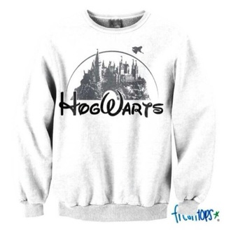 sweater white sweater harry potter sweater
