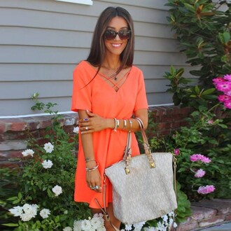 dress orange dress orange skirt plunge v neck v neck dress casual dress casual shirt nude loose dress