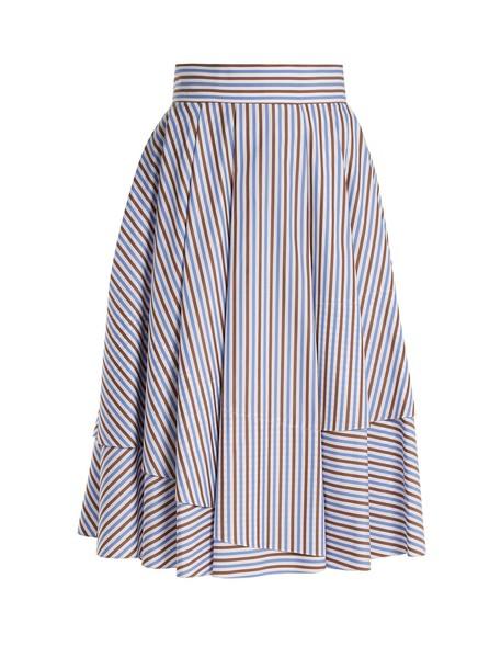 DOVIMA PARIS skirt midi skirt midi cotton blue