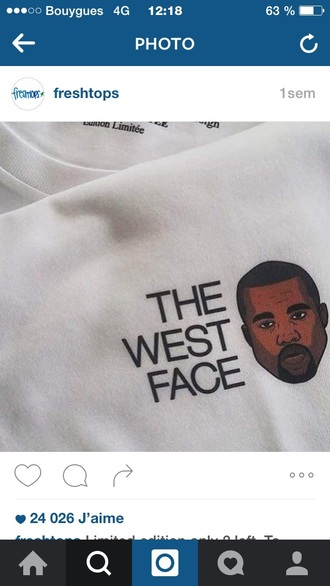 kanye west printed sweater white sweater sweater