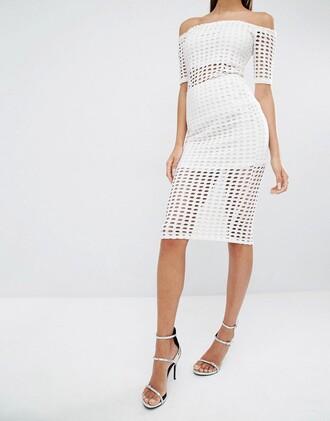 skirt lazer cut asos clothes mesh dress white dress