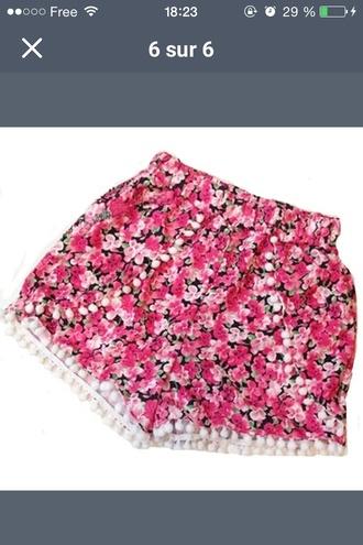 shorts floral shorts fashion summer shorts summer outfits pink style