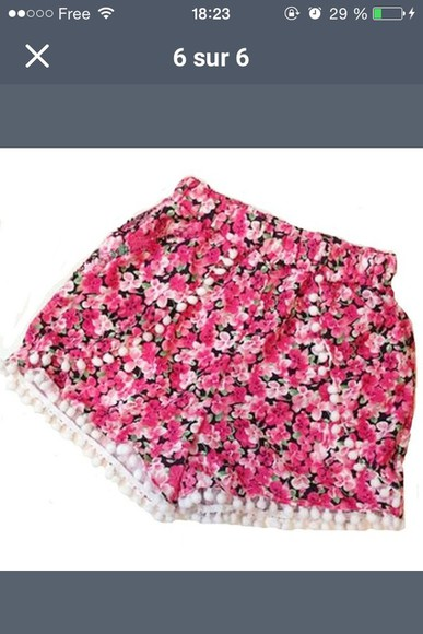 summer outfits shorts floral shorts fashion summer shorts pink style