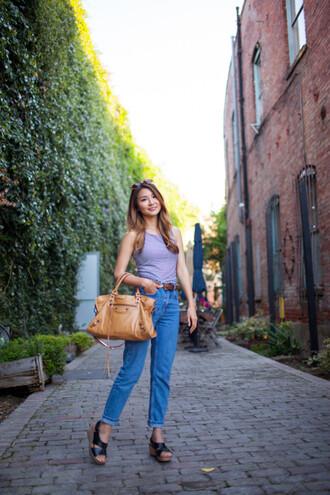 atsuna matsui atsuna matsui » blogger top jeans belt bag shoes sunglasses