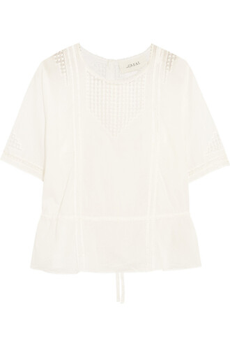 top cotton crochet white off-white