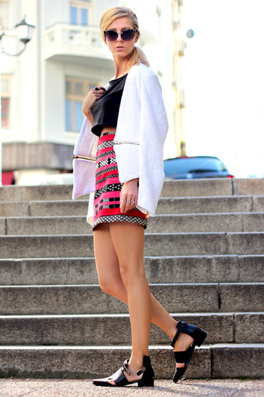 sirma markova jacket skirt jewels shoes sunglasses t-shirt
