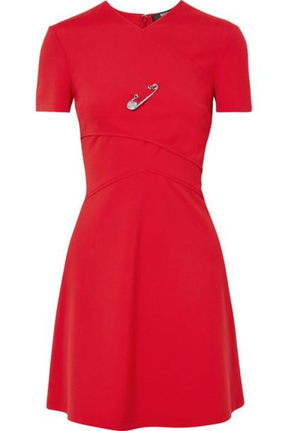 Versus Versace dress mini dress mini embellished layered red